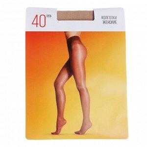 Колготки капроновые женские 40 DEN, 96% полиамид, 4% эластан, GC Design