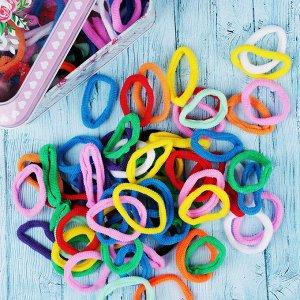 BERIOTTI Набор резинок для волос 100шт, полиэстер, 3,5см, 7-10 цветов