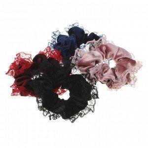 BERIOTTI Резинка для волос, полиэстер, d9см, 3-4 цвета, РВ2019-8