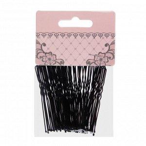 BERIOTTI Набор шпилек для волос 50шт, металл, 6см, черный