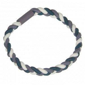 Резинка для волос, плетение косичка, d=5см, полиэстер, 4-6 цветов