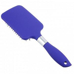 ЮниLook Расческа массажная, пластик, силикон, 25,5см, 2 цвета