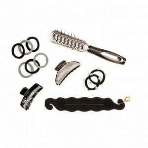 BERIOTTI Набор резинок для волос 6шт, полиэстер, 4см, 2 цвета, арт. GR-02