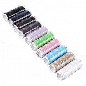 Набор ниток 10шт, цветные, полиэстер