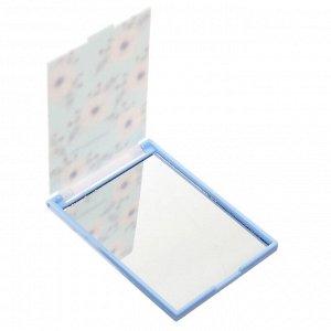 Зеркало карманное прямоугольное, пластик, 6,2х9,2см, 4-8 дизайнов, GC-028