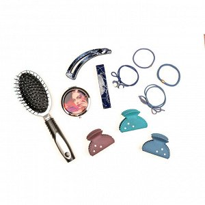BERIOTTI Набор резинок для волос 4шт, d=5см, полиэстер, пластик, 4-6 цветов