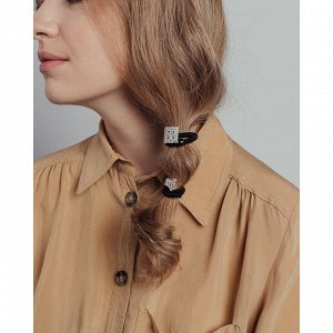 BERIOTTI Набор резинок для волос 2шт, d5,5см, полиэстер, бижут.сплав, стекло, 3229-4