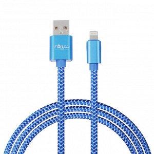 FORZA Кабель для зарядки, Волна, iP, 2А, 1м, пластик