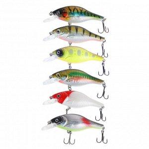 "AZOR FISHING Воблер ""Фэри Крэнк"", F, 8,8гр, 80мм, 0,0-1,5м, 6 цветов"