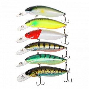 "AZOR FISHING Воблер ""Визард"", F, 11гр, 100мм, 0,0-2,0м, 6 цветов"
