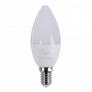 Лампа светодиодная свеча FORZA С37, 5W, E14, 400lm, 4000К