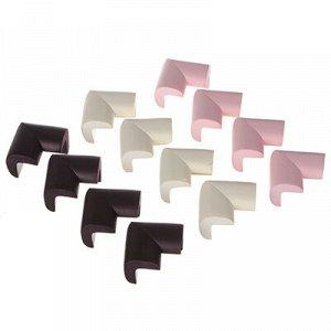 Накладки - протекторы на углы, 6х3 см, каучук, 3 цвета