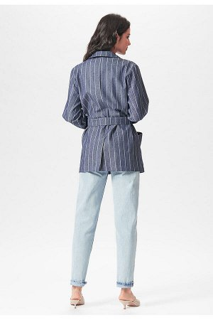 #99043 Жакет (D'IMMA) Темно-синий