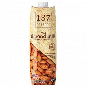 Миндальное молоко без сахара 137 Degrees 1000 мл 1/12
