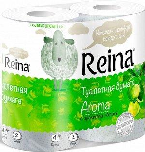 Туалетная бумага Reina Aroma Яблоко 2сл., 4 шт\уп