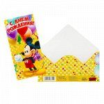 """Открытка-конверт для денег """"На большую мечту"""": Микки Маус, 16.5 х 8 см"""