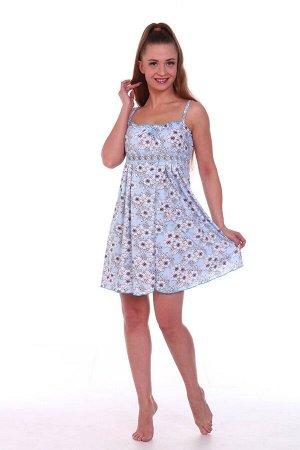 Сорочка женская, голубой