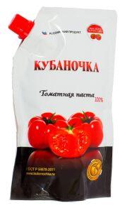 """Томат-паста """"Кубаночка"""" 0,1 кг дой-пак 1/25"""