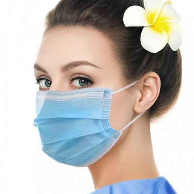 ⚡Мега Закупка косметики!1000 новинок!⚡  — Защитные 3-х слойные маски! — Бахилы и маски