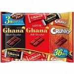 Шоколадное ассорти Гана/Кранки 36шт, Lotte, 134гр.