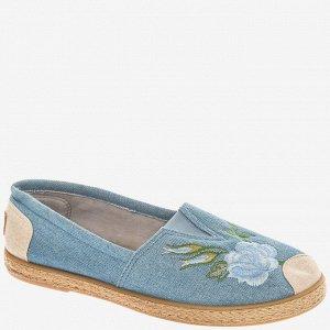 407364/01-02 голубой текстиль женские туфли