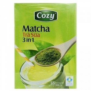 Чай матча Пудровый чай  матча латте (зеленый чай, сливки, сахар) 1 пачка/18 стиков