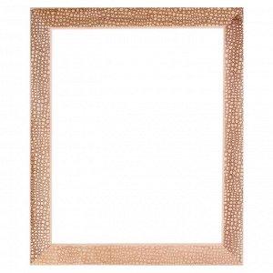 Рама для картин (зеркал) 40 х 50 х 5.0 см. дерево. липа. «Питон». горячее тиснение