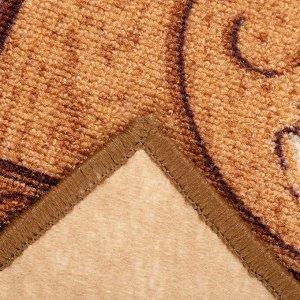 Палас «ГОЛЛАНДИЯ», размер 200х200 см, цвет бежевый