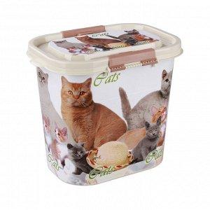 """Контейнер """"Cats"""" для корма 10 л. ( овальный) М5395"""