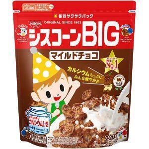 Кукурузные хлопья  Nissin  Cisco шоколадные 220 гр.  пакет   (Япония) СРОК ГОДНОСТИ ДО 28.02.2021