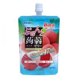 """Фруктовое желе Orihiro питьевое """"личи"""" на основе коняку с содержанием натурального сока 130 гр Япония/"""