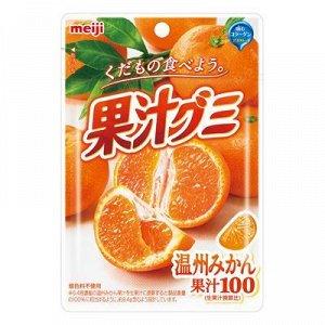 "Мармелад жевательный ""Meigi"" мандарин с коллагеном  51гр./Япония/"