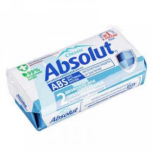 Мыло твердое Absolut антибактериальное к/у 90г, арт.6059