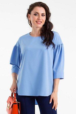 Блуза Молли с пояском (голубая) Б1357-5