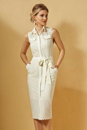 Платье DI-LiA FASHION 0359 кремовый