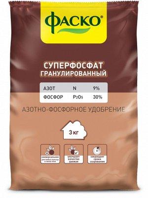 Уд Суперфосфат Фаско 3кг гранул фосфорно-азотное минер сух