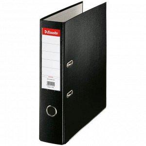 Папка-регистратор Esselte Economy, 75мм, полипропилен, нижний метал. кант, черная