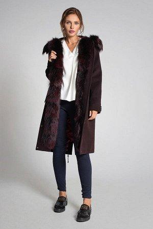 Пальто Gotti 163/6м бордовый