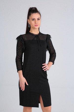 Платье Платье SOVITA 7275  Состав ткани: Вискоза-20%; ПЭ-80%;  Рост: 164 см.  Платье женское, полуприлегающего силуэта, с втачным рукавом длиной 3/4. Пред с нагрудными вытачками, с кокеткой выше лини