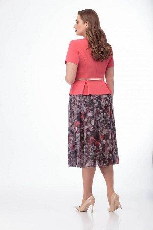 Костюм Костюм ANELLI 690 красный жакет/маки  Сезон: Весна-Лето  Идеальное сочетание элегантности и строгости! Гармония внешнего и внутреннего!Комплект, состоящий из жакета и юбки. Выполнен из ткани с