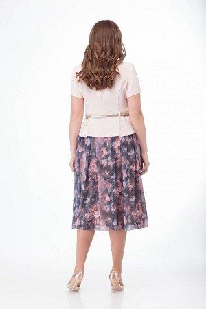 Костюм Костюм ANELLI 690 пудра жакет/маки  Сезон: Весна-Лето  Идеальное сочетание элегантности и строгости! Гармония внешнего и внутреннего!Комплект, состоящий из жакета и юбки. Выполнен из ткани с к