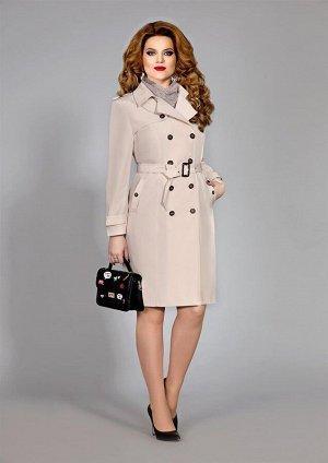 Плащ Плащ Mira Fashion 4391  Состав ткани: ПЭ-100%;  Рост: 164 см.  Плащ полу-прилегающего силуэта, выполнен из плотной плащевой ткани и поставлен на подкладку. На переднем полотнище обработаны релье