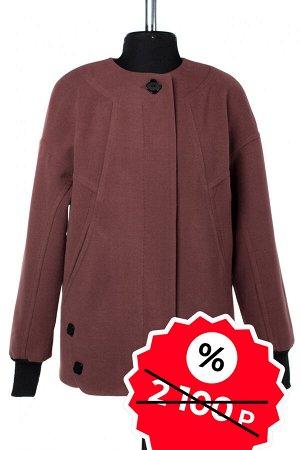 01-08972 Пальто женское демисезонное SALE Пальтовая ткань светло-коричневый