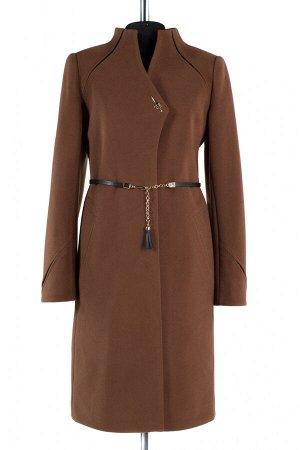 01-8033 Пальто женское демисезонное (пояс) Кашемир светло-коричневый