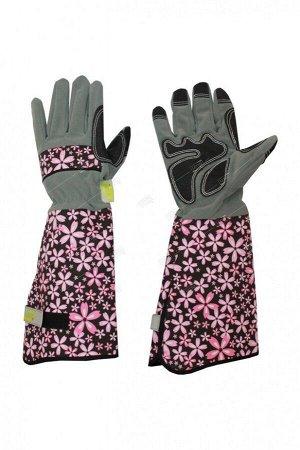 Перчатки для роз иск. замша и микрофибра зелен L LIST'OK (6) LIV169-01NEW
