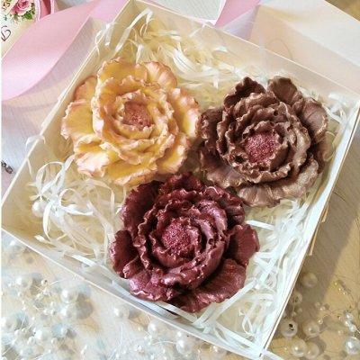Фигурный бельгийский шоколад на подарки. — Шоколадные розы и разные красивые цветы — Праздники