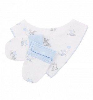 Комплект Комплект для мальчика и девочки (манишка, рукавички) выполнен из интерлока. Состав: 100% хлопок