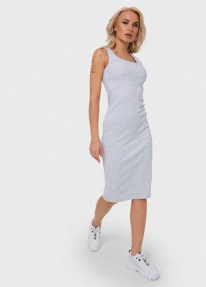 """Платье """"Кашкорсе"""" для беременных и кормящих; цвет: серый меланж"""