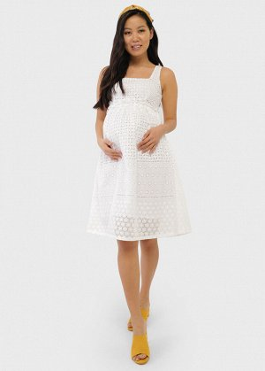 "Сарафан ""Энтони"" для беременных; цвет: белый"