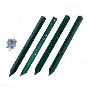 Грядка оцинкованная, 195 ? 100 ? 34 см, зелёная, Greengo